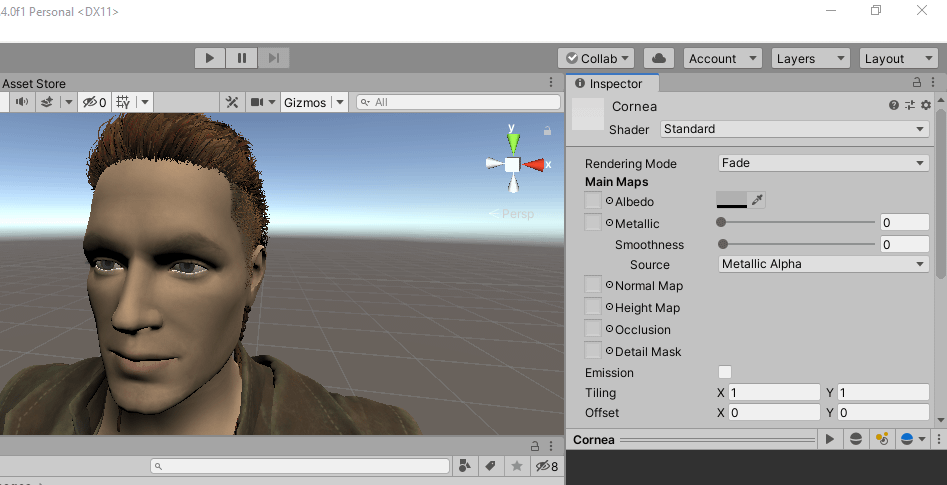 Unity imported daz character