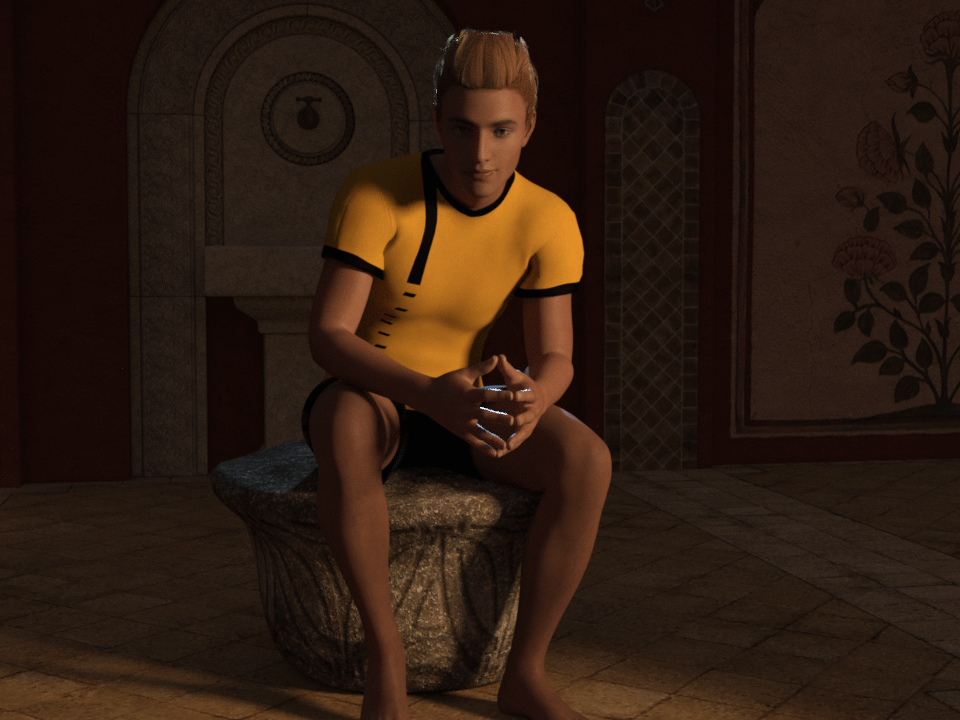 daz3d combined contrasted lighting