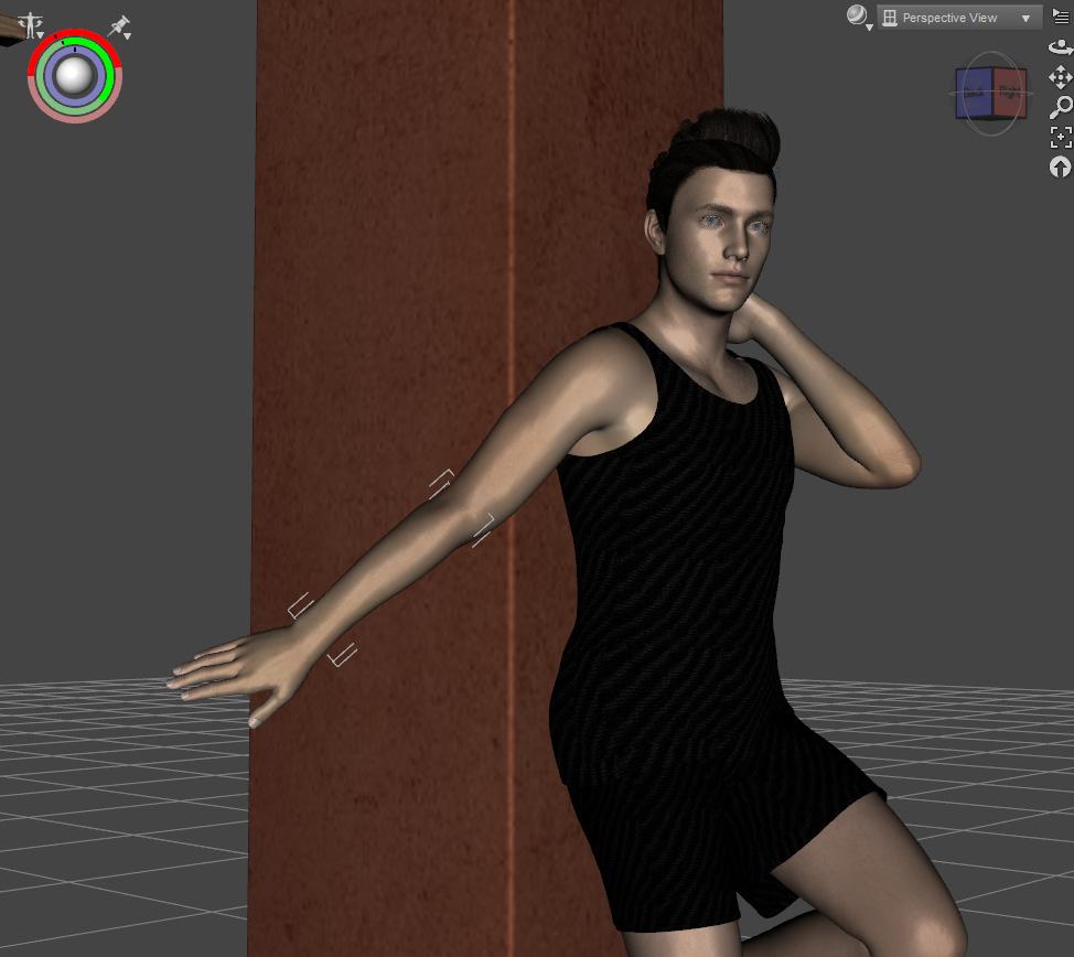 daz studio rotating arm of genesis character