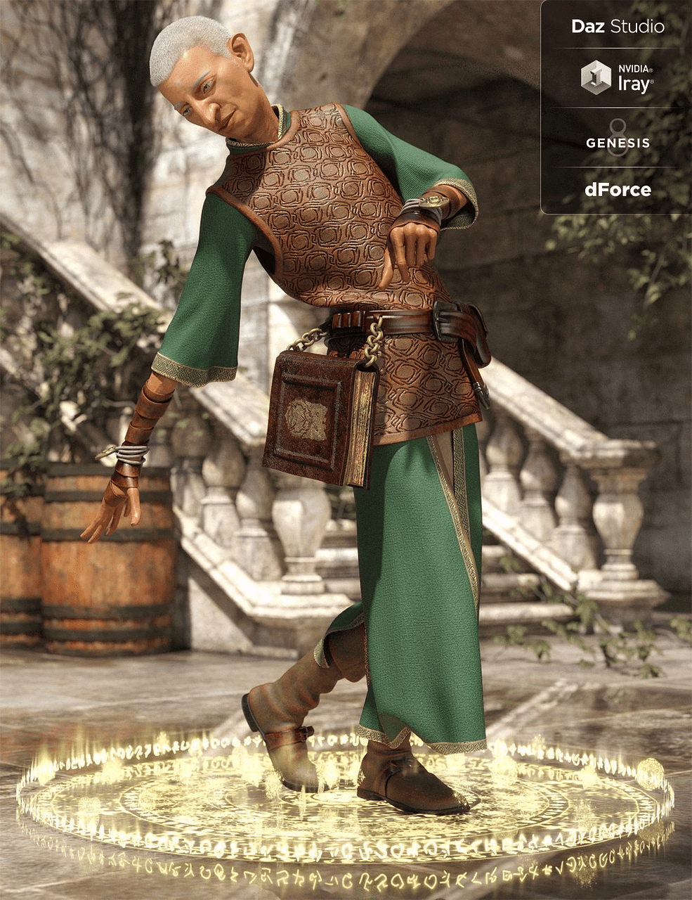 dforce outfit of cleric for daz studio
