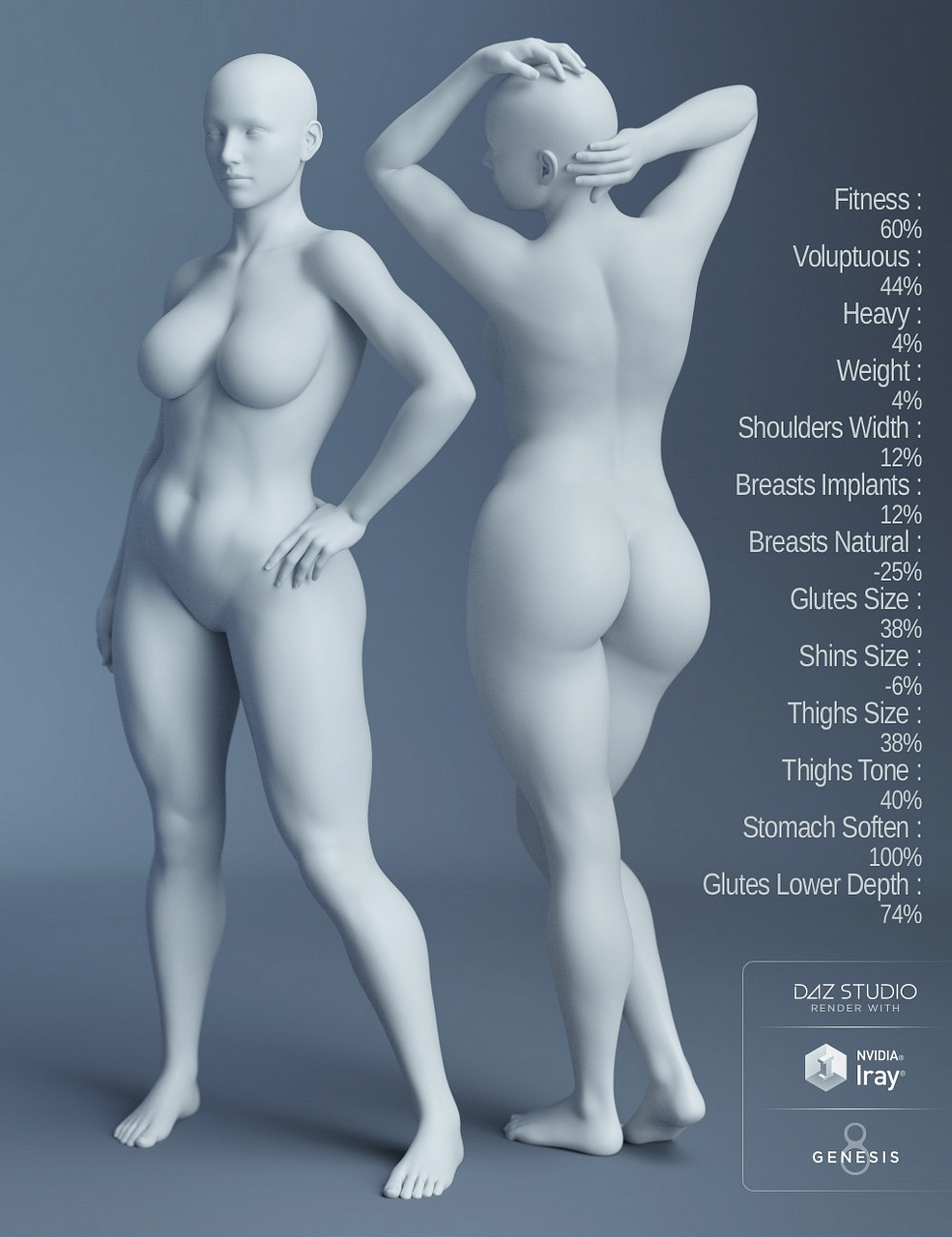 daz3d genesis 8 female body morphs