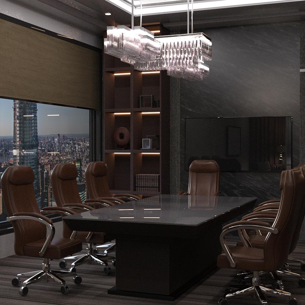 fancy office 3d model