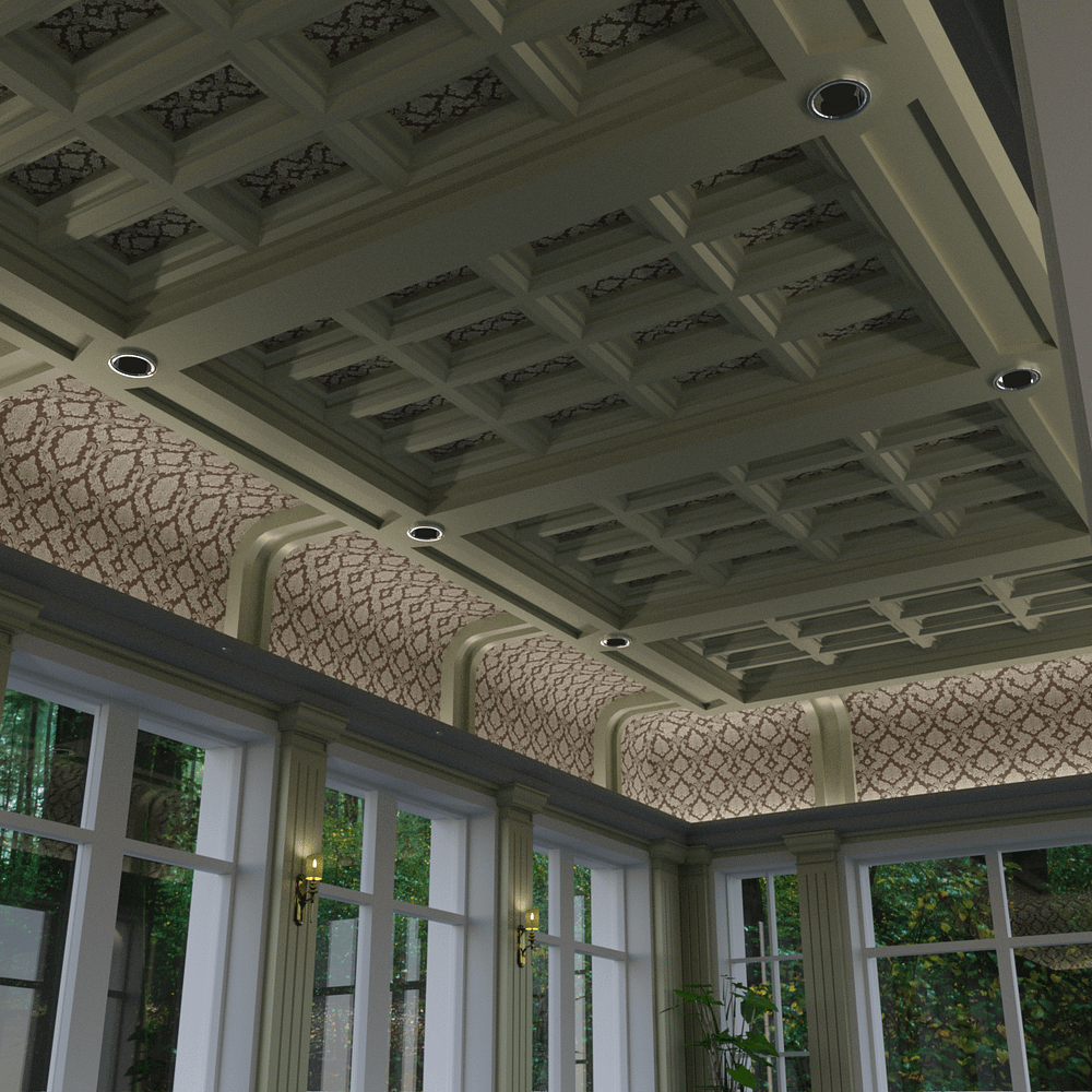 Roof design above the swimming pool 3d model