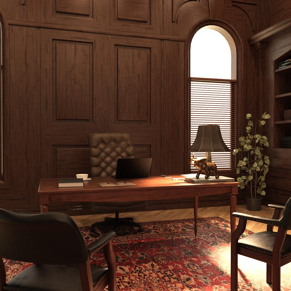 estate office 3d model