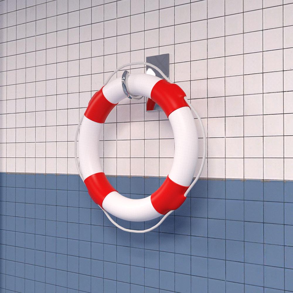 3d model of a lifesaver