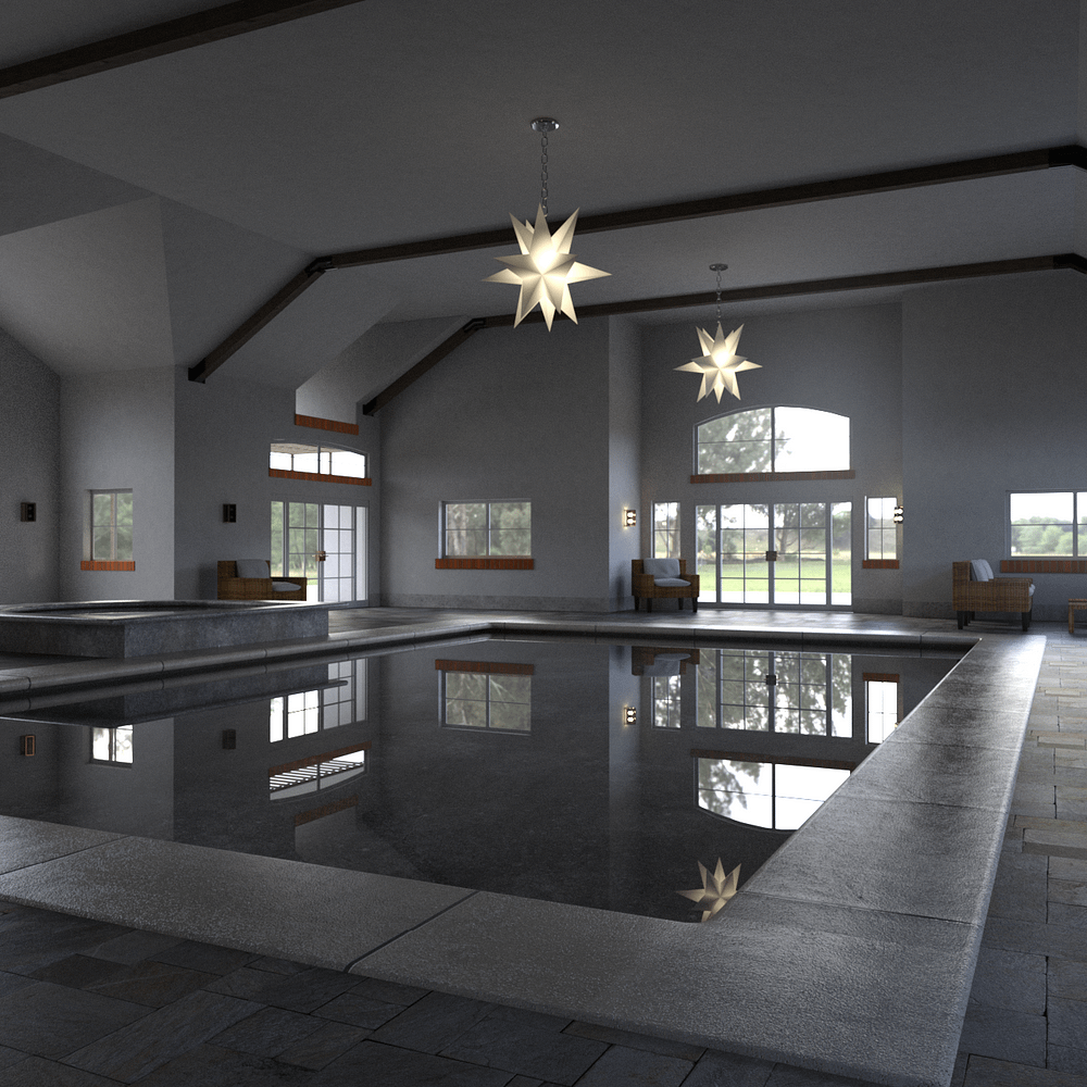 Another camera shot perspective of the swimming pool