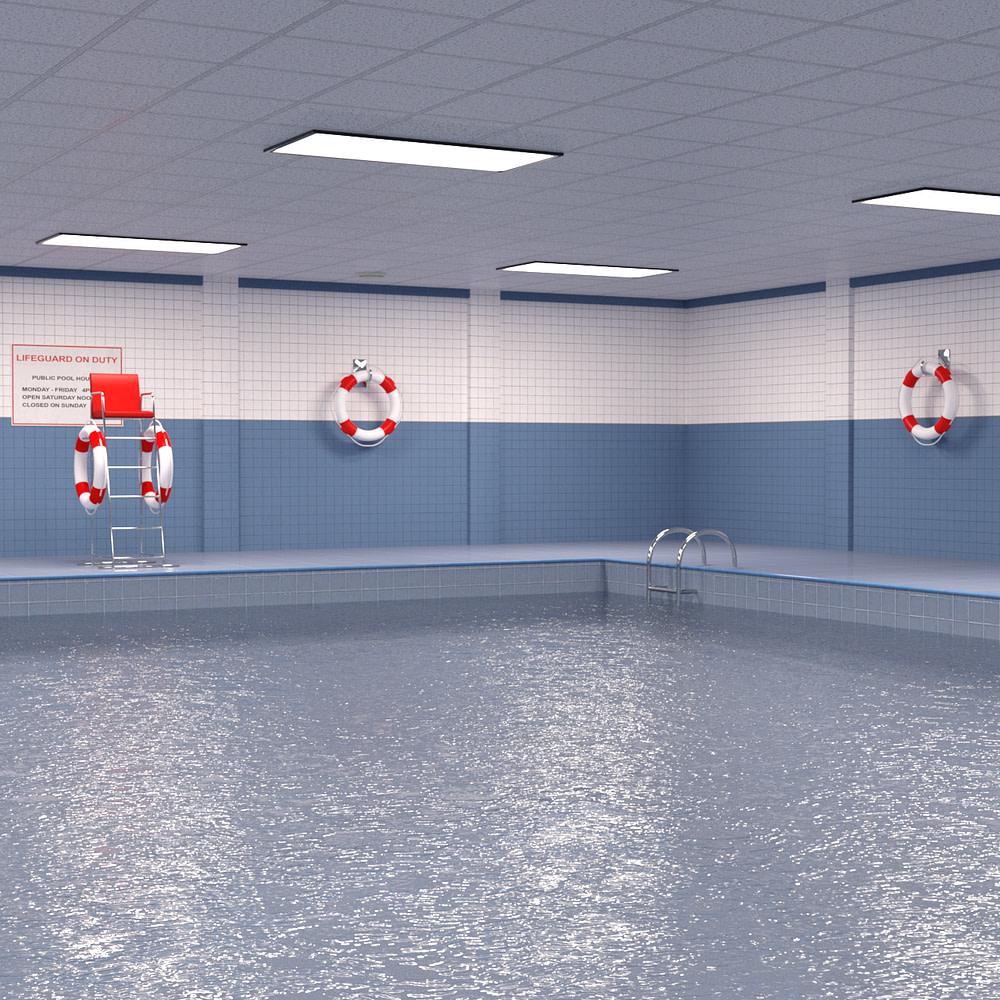 Public Indoor Pool 3d Model