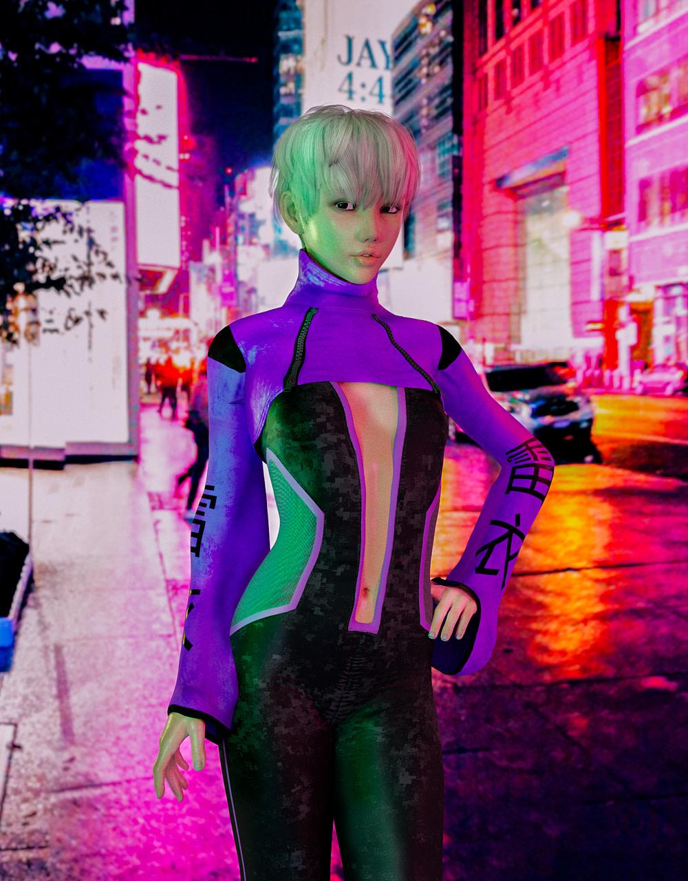 daz3d realistic render cyberpunk tokyo