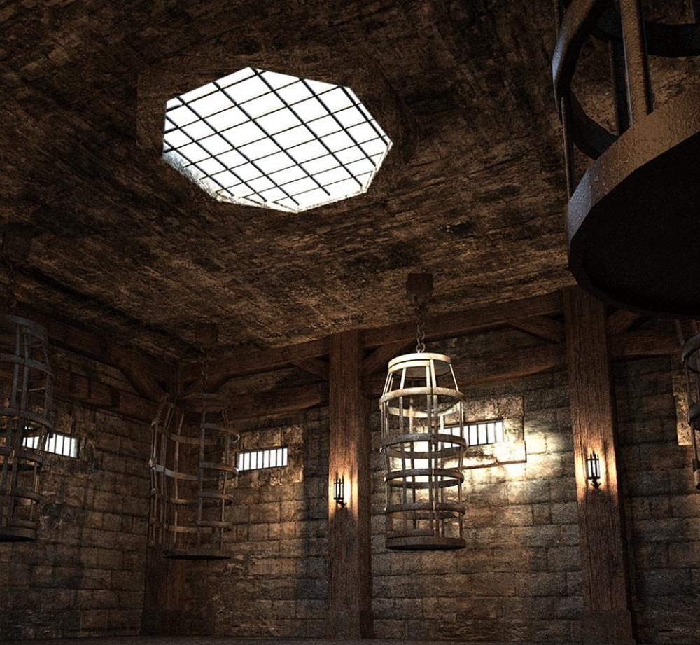 daz3d fantasy prison cages
