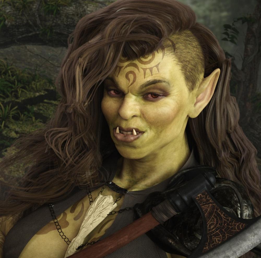 she orc genesis 3d model