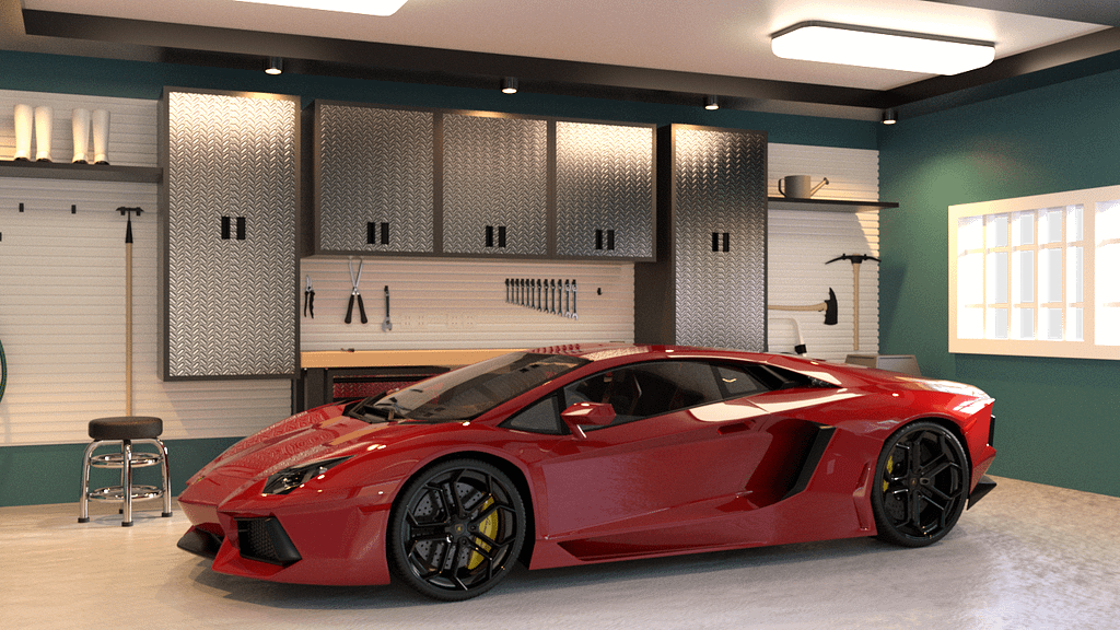 red sport car 3d model