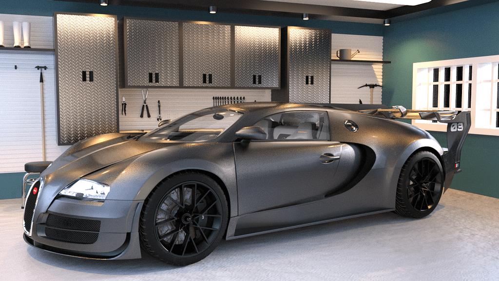 silver sport car 3d model