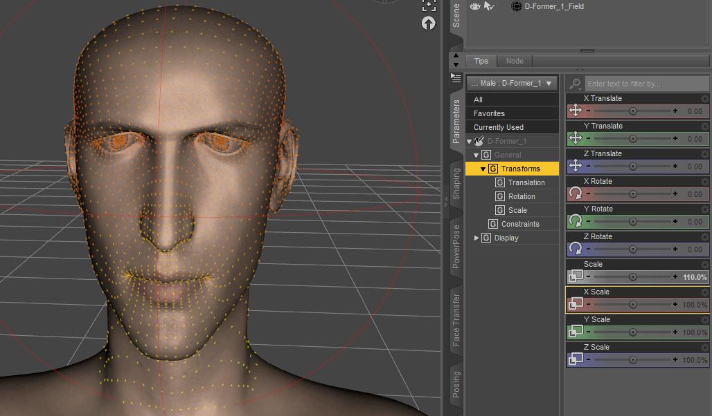 Daz3D Create Custom Morph with d former tool