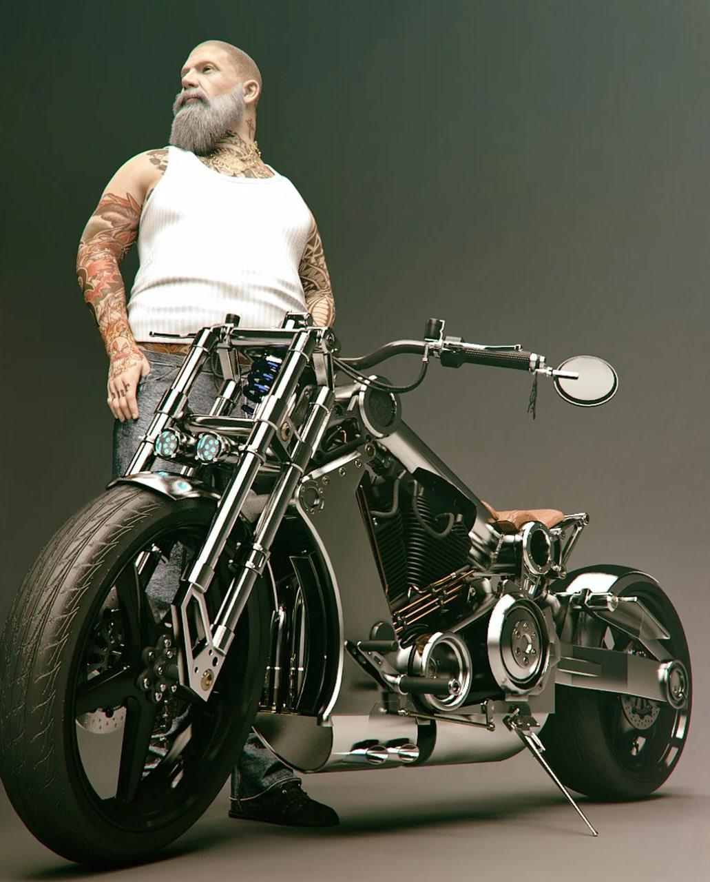 street bike 3d model