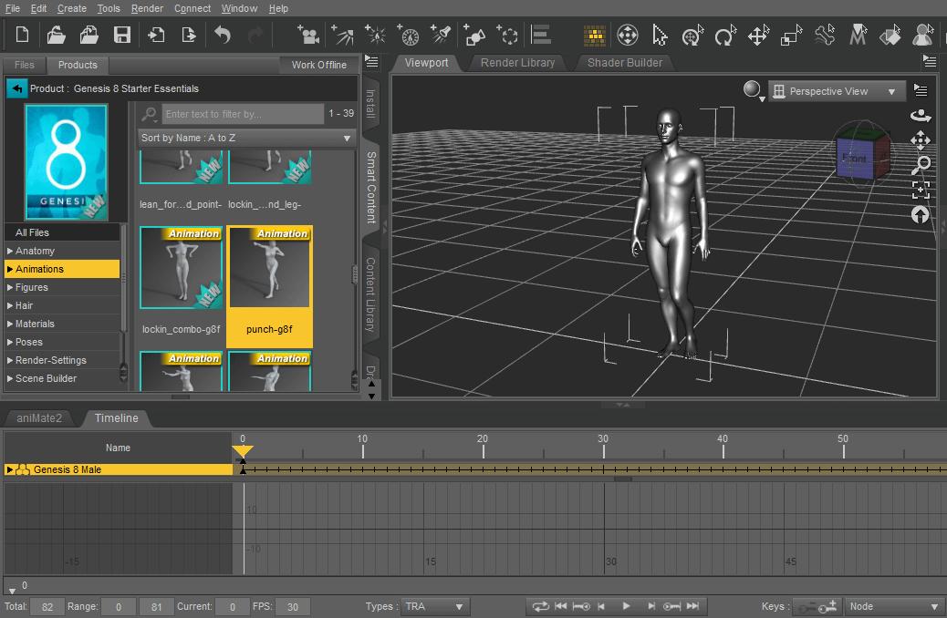export animation from daz studio to blender using fbx format