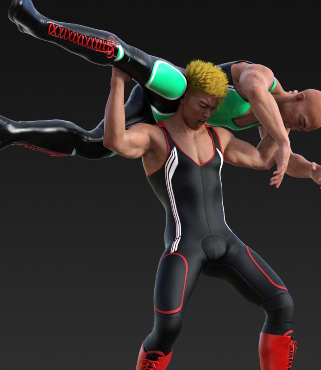 male daz genesis wrestling animations