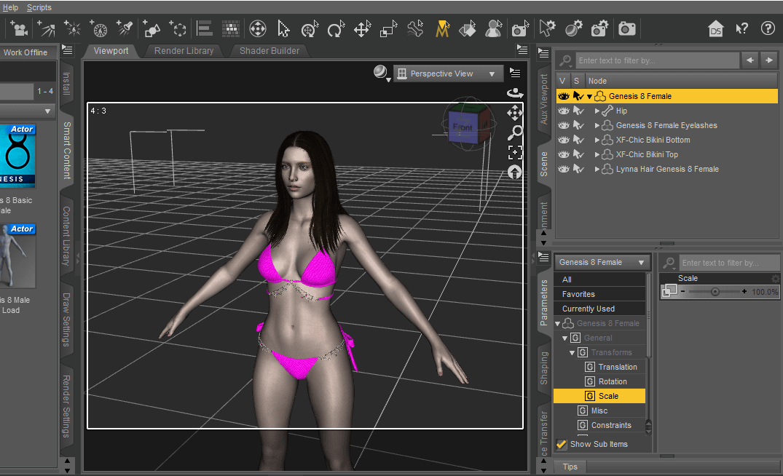 daz studio genesis 8 model parameters