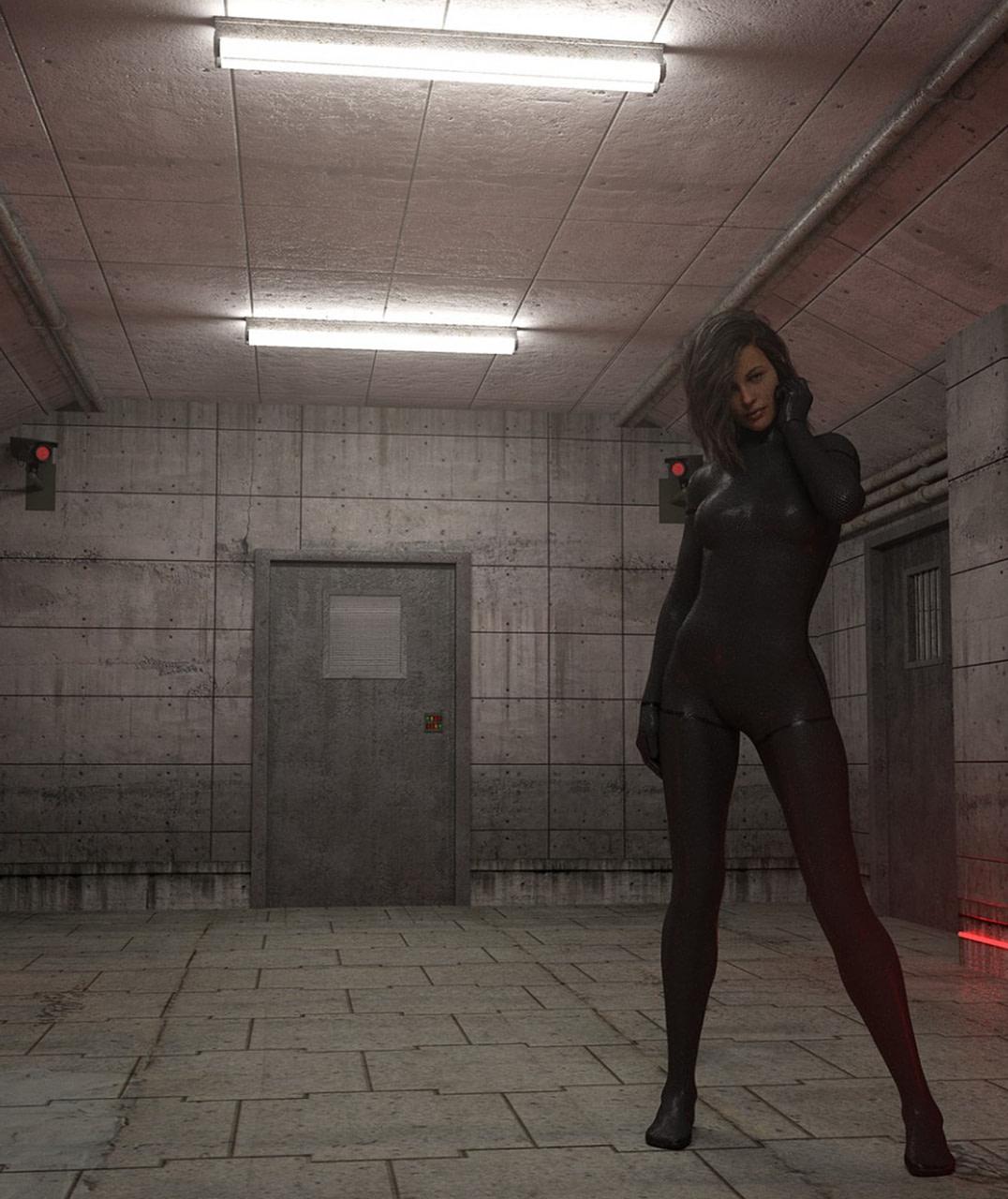 daz sci fi prison hallway