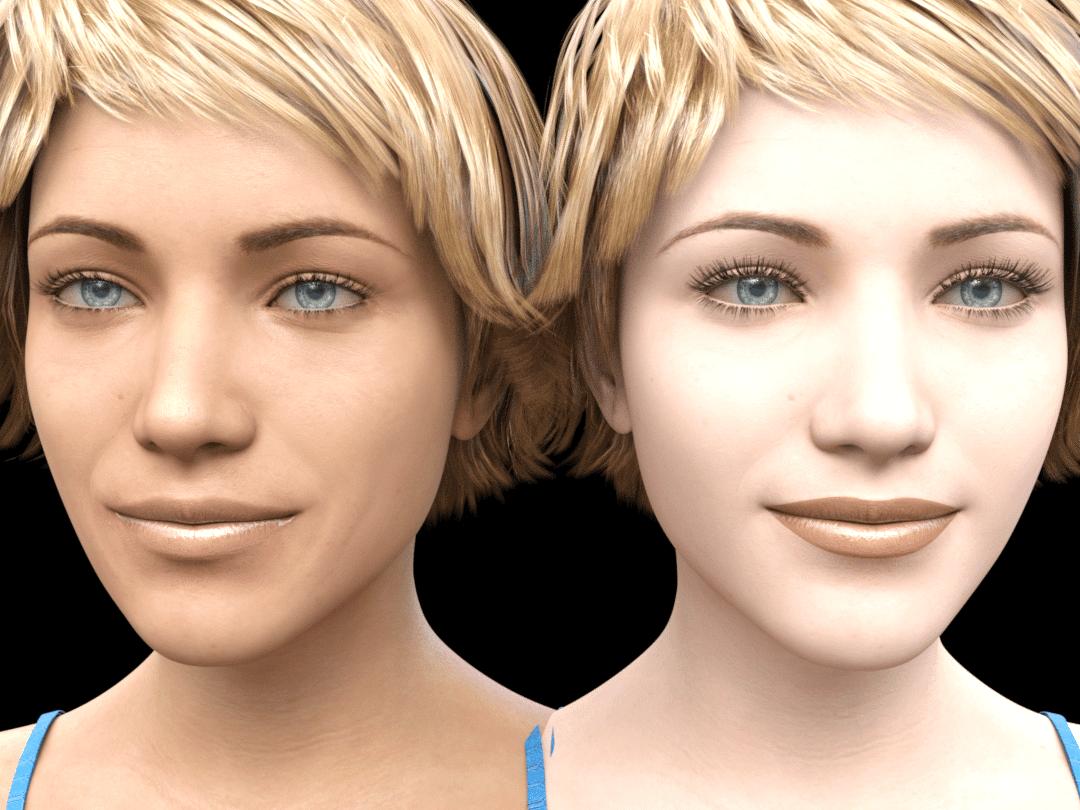 daz genesis 8.1 skin comparison