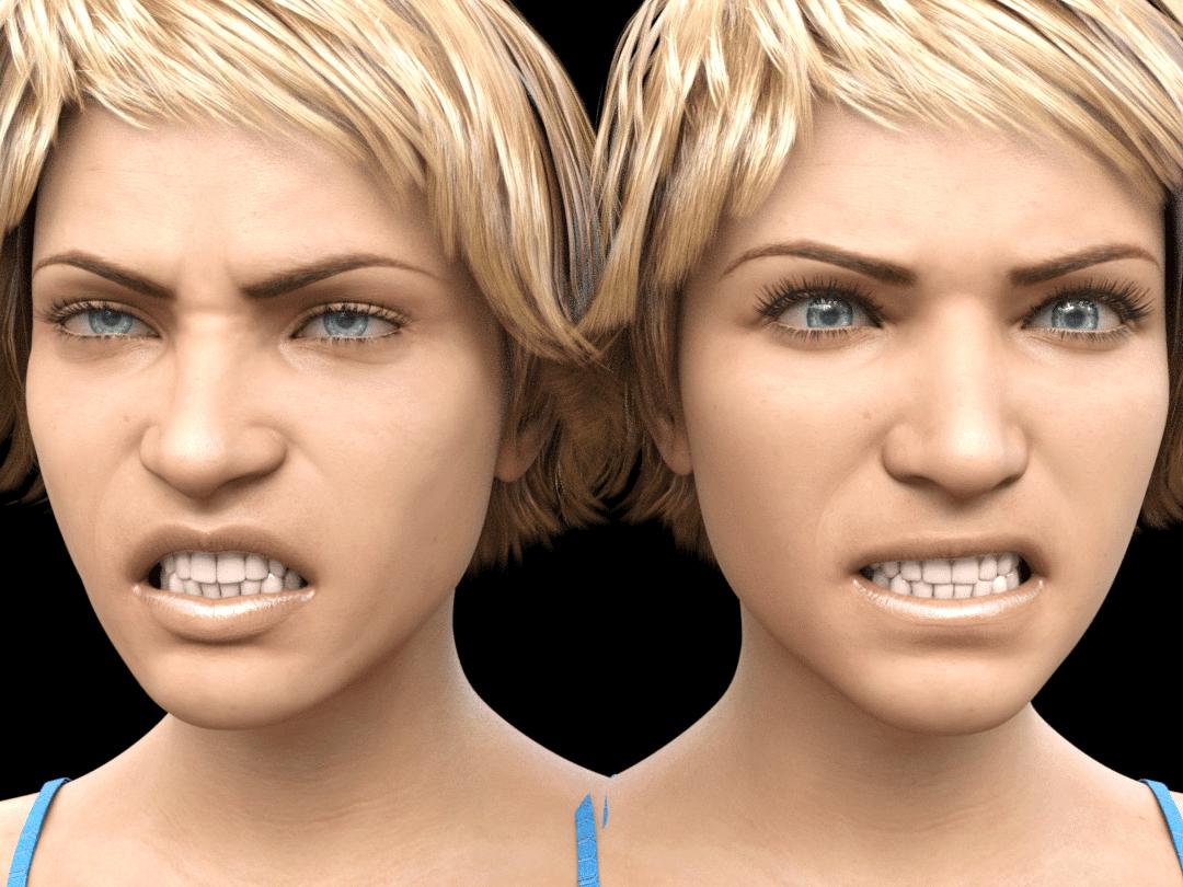 daz3d genesis8.1 facial expressions comparison