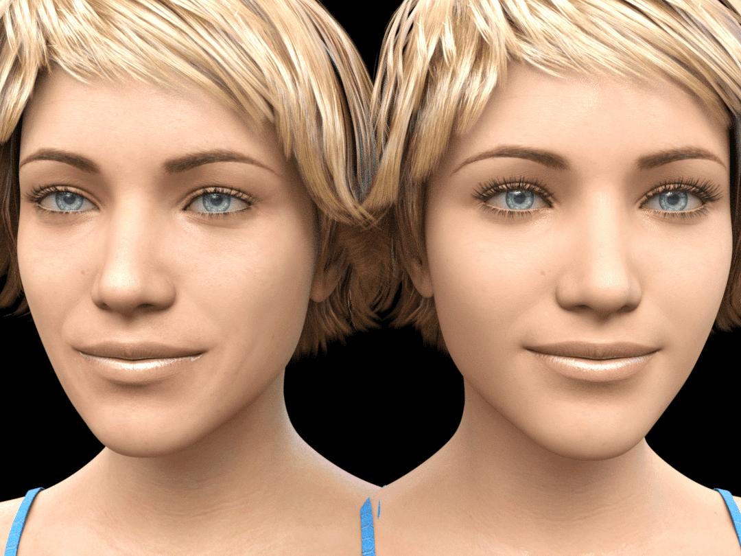 daz3d genesis8.1 skin shader comparison