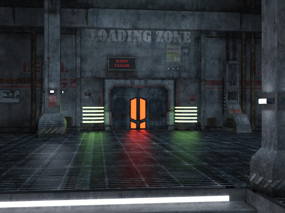 daz3d indoor lighting render