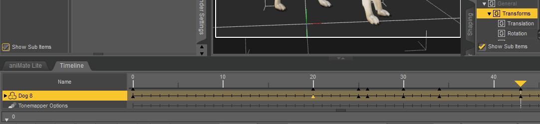 daz3d animation timeline keyframes