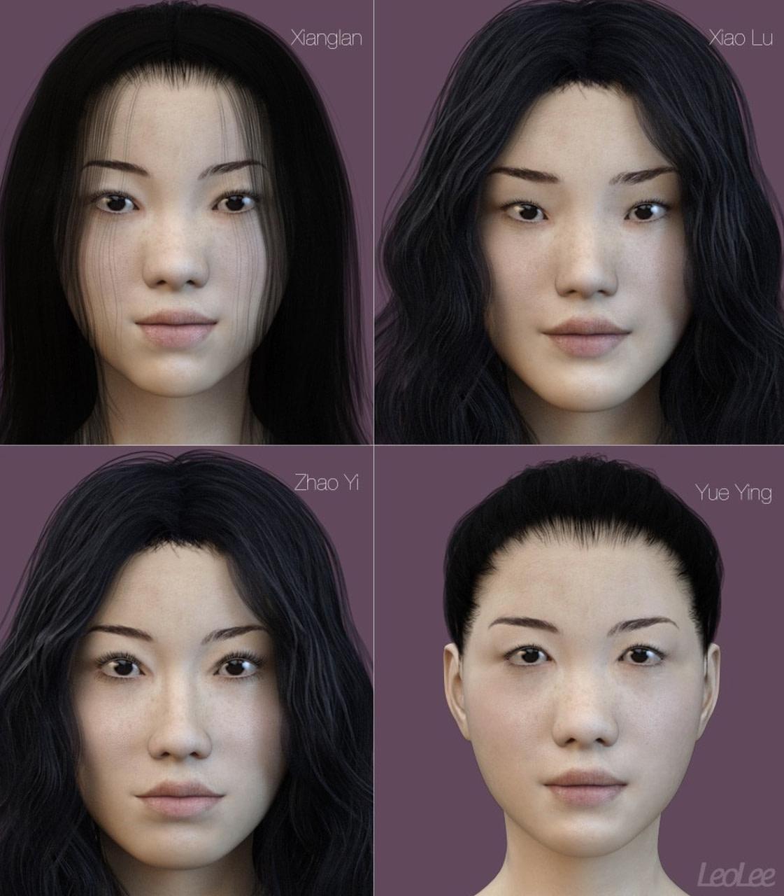 chinese daz3d asian females