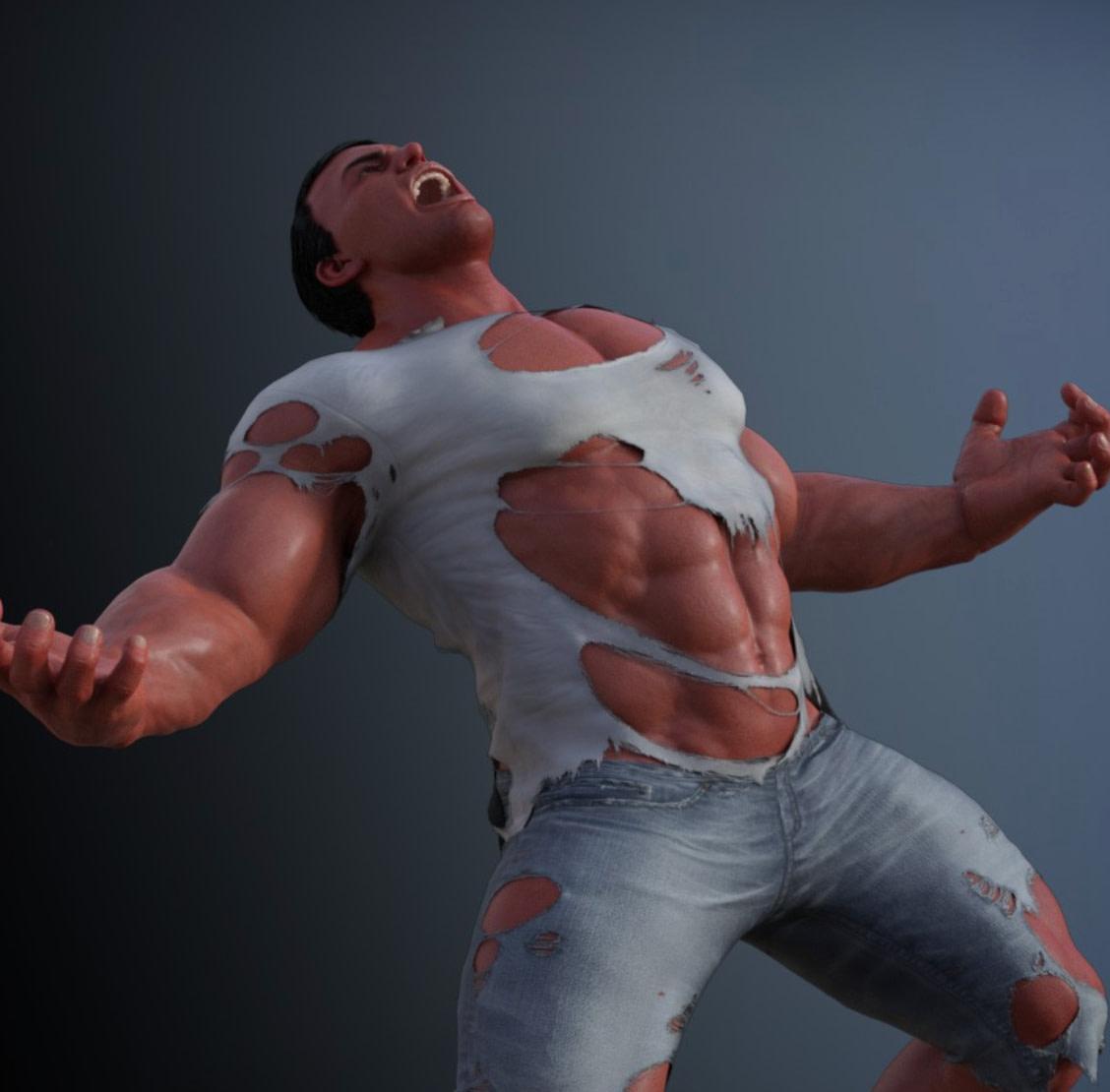 werwolf 3d torn clothes