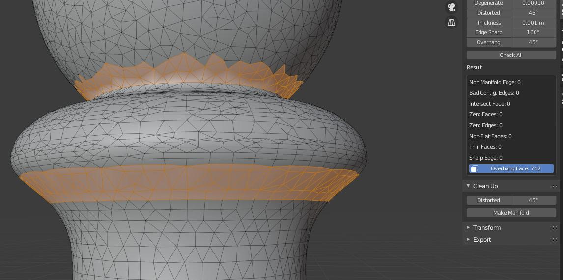 blender 3d printing overhang faces