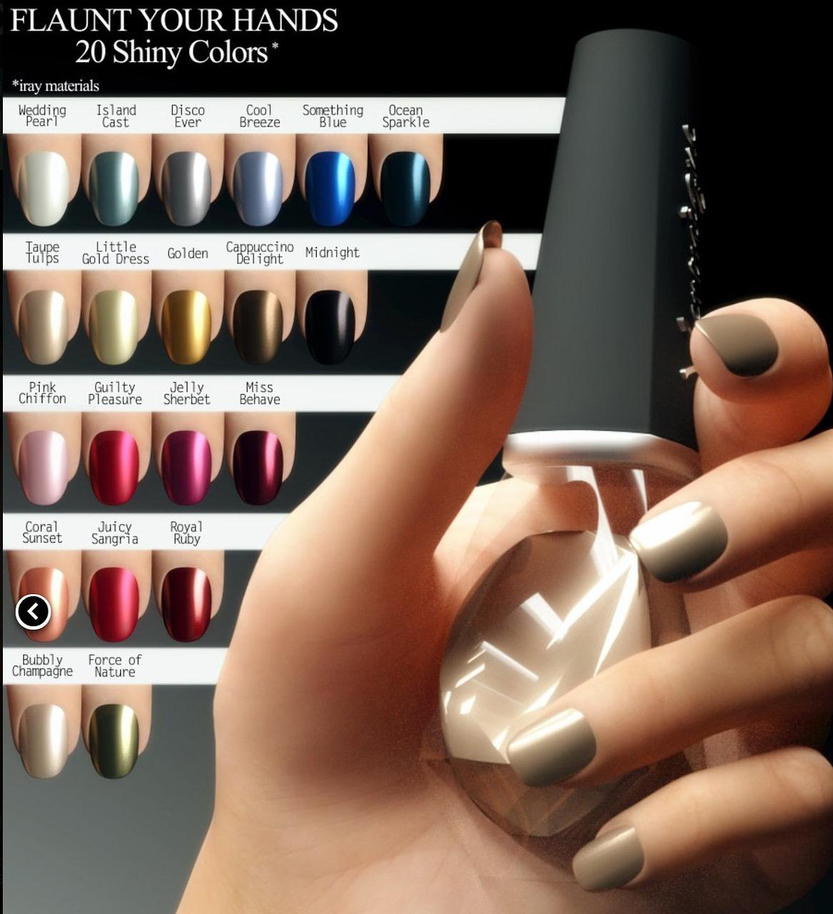 daz3d fingernails hands genesis 3 female