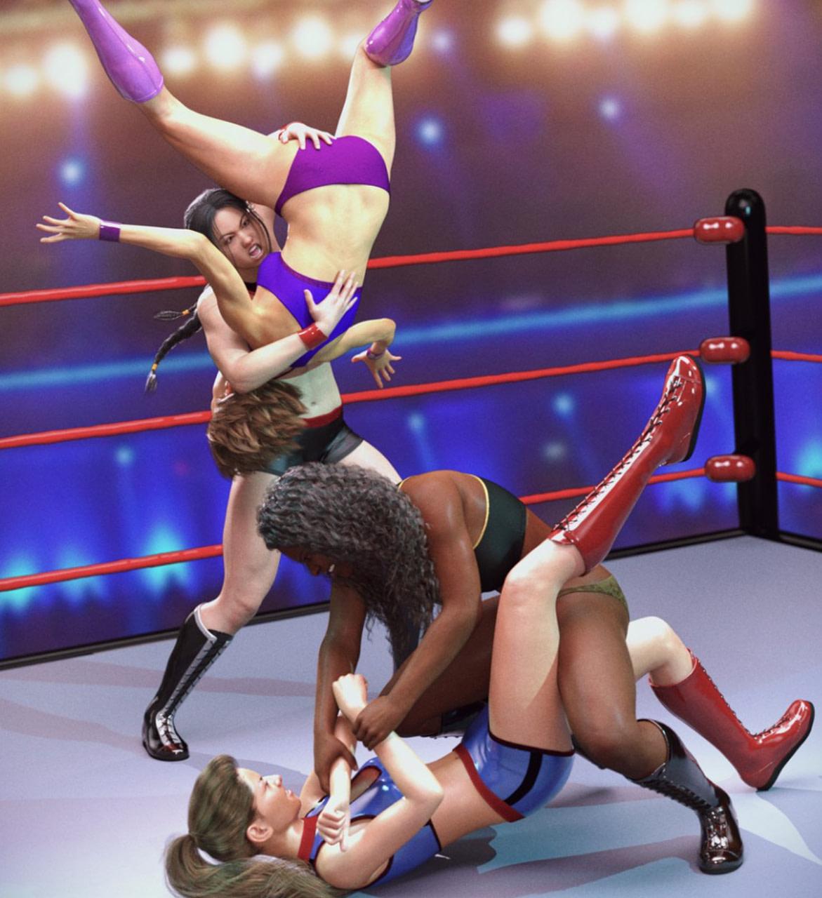 daz female wrestling poses