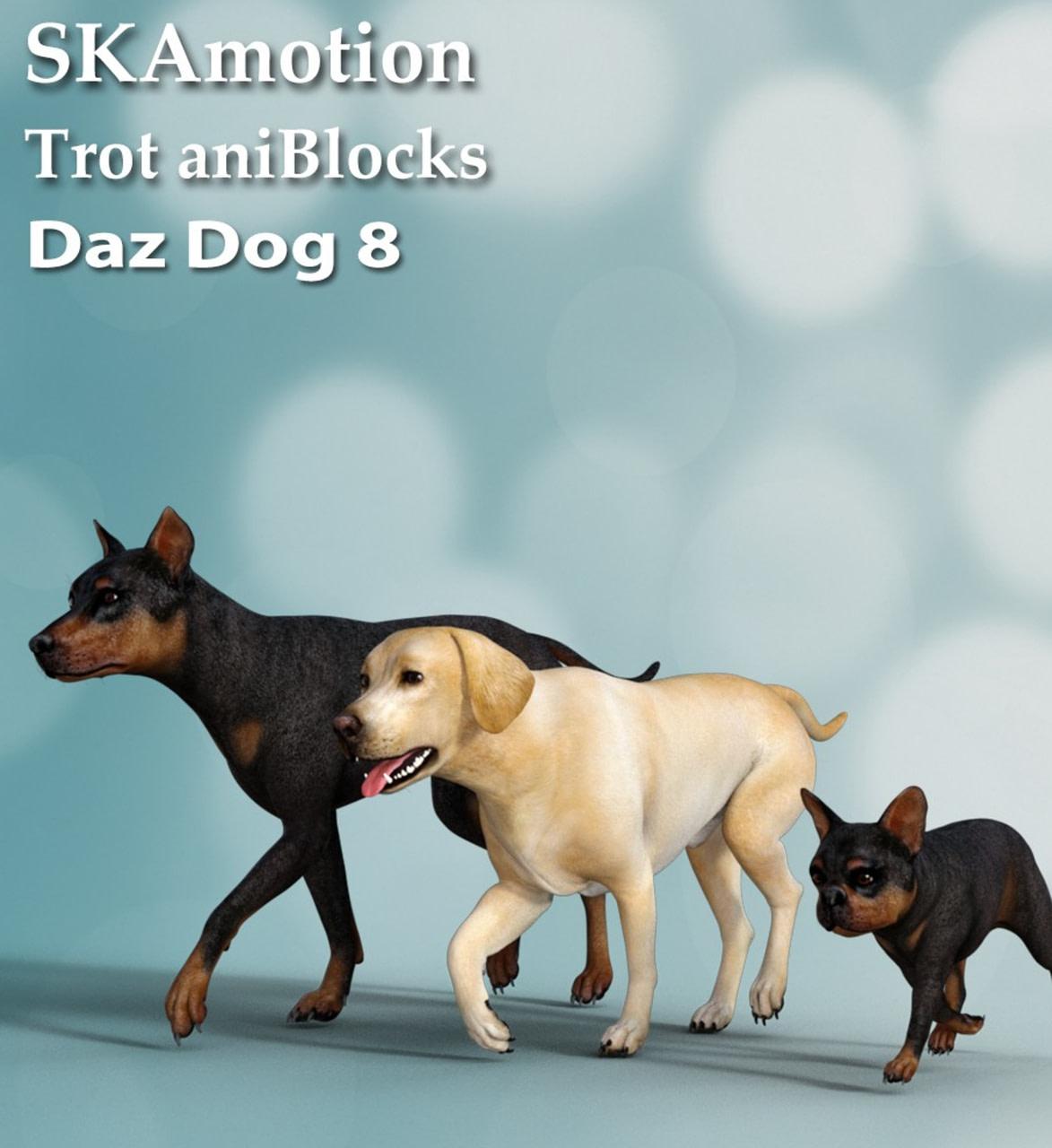 3d dog animation daz studio