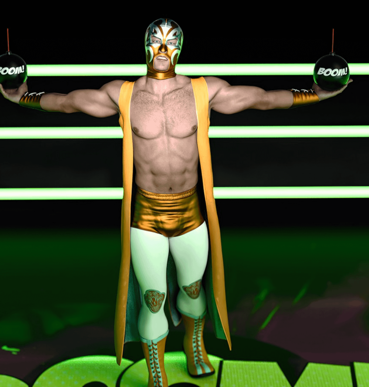 dforce luchador wrestling outfit