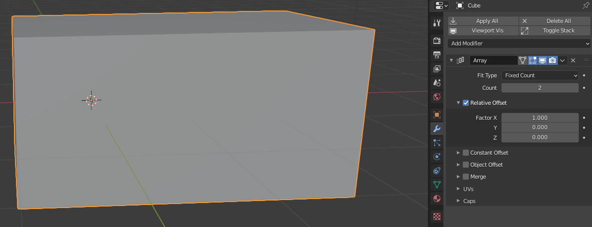 blender array modifier