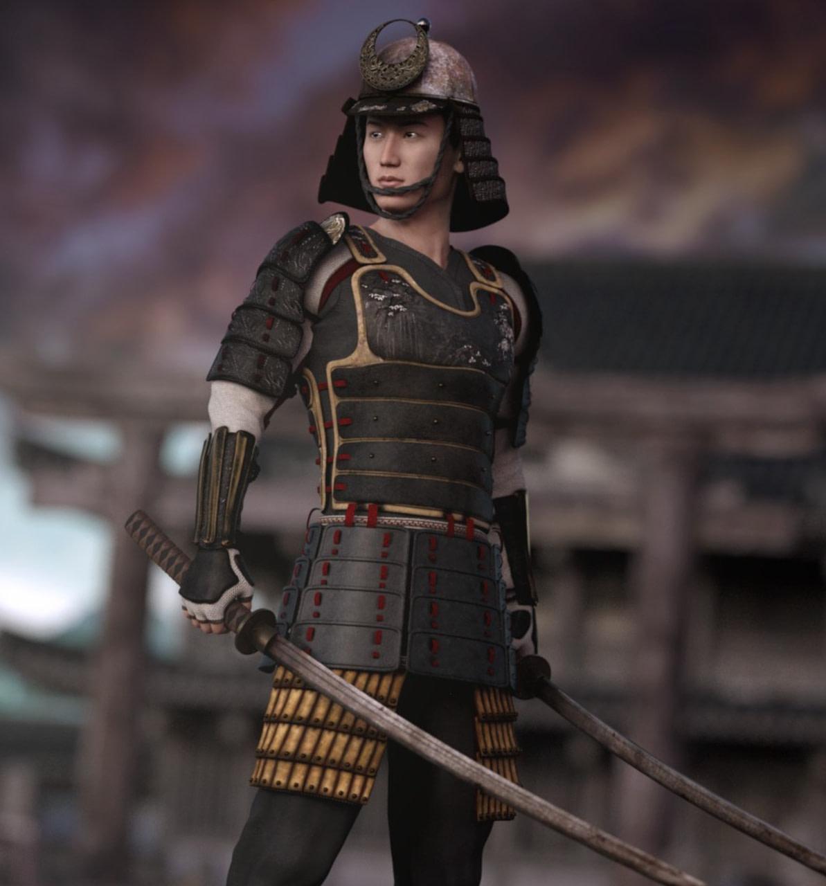 daz japanese samurai model