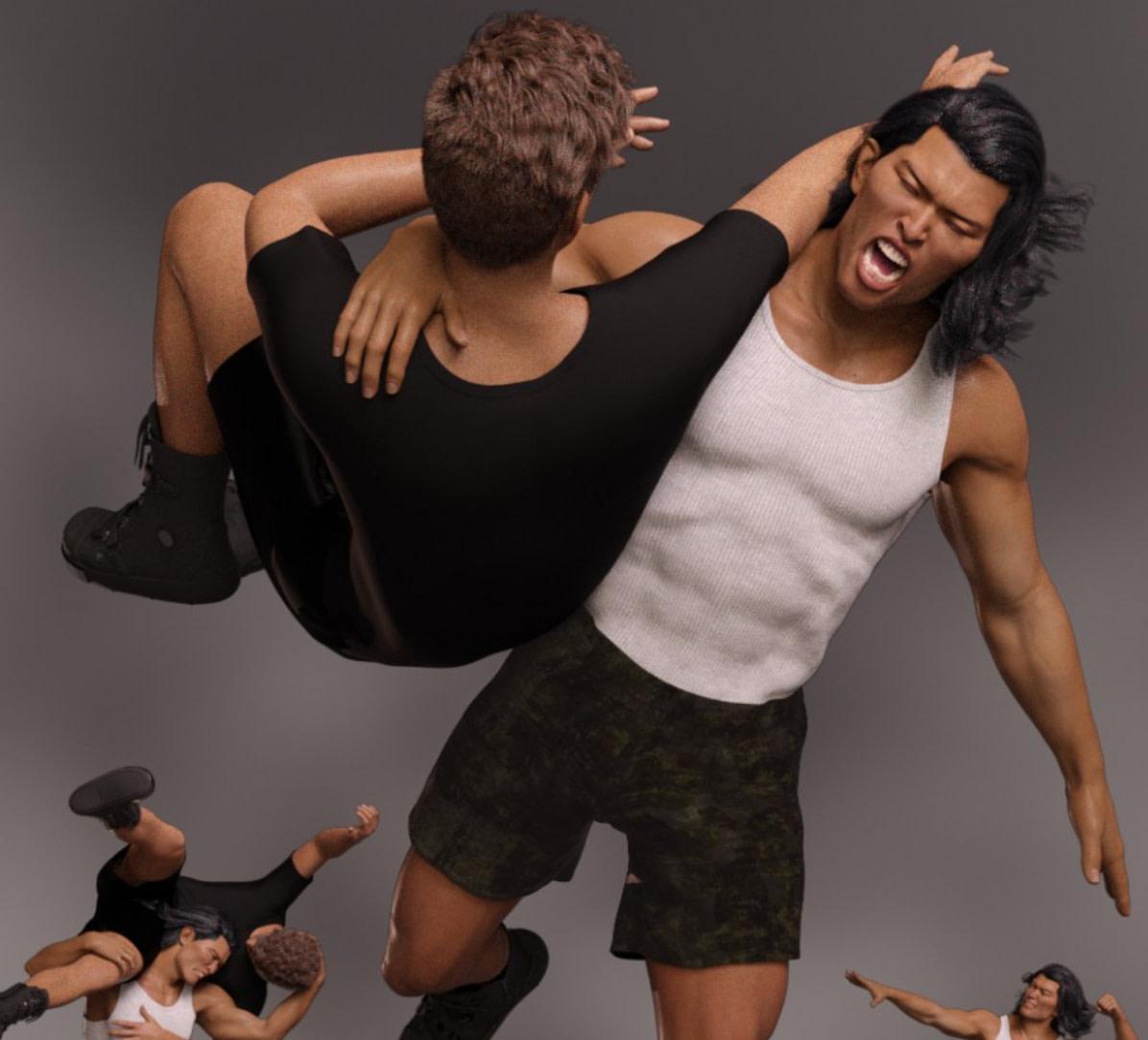 daz3d pro wrestler moves