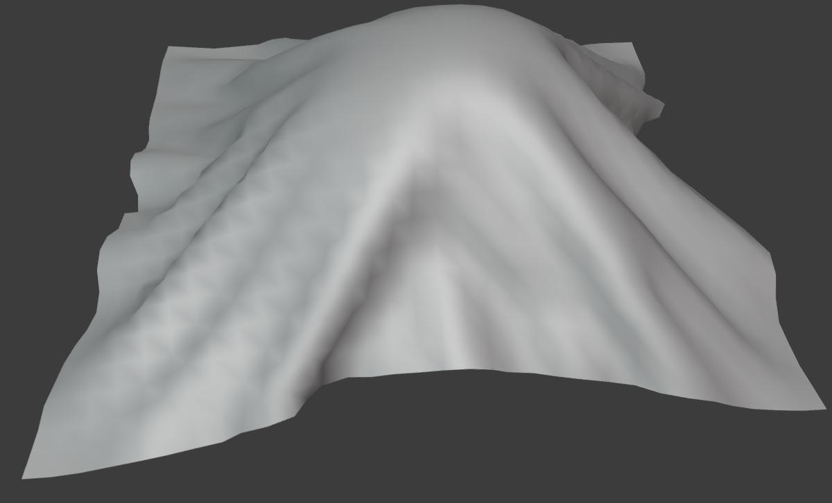 blender cloth brush inflate deformation