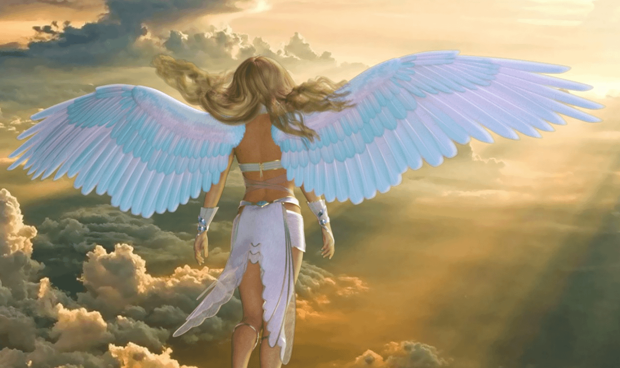 daz3d angle wings archangel outfit