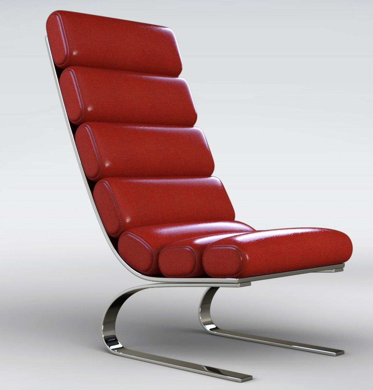 luxury morphing 3d chair model