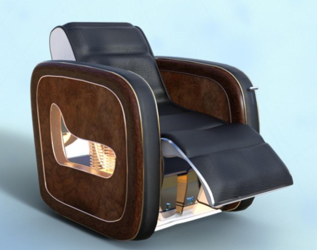 luxurious chair model 3d