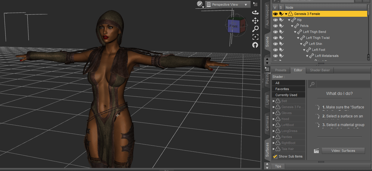daz 3d autofit outfit genesis 3 female taia model