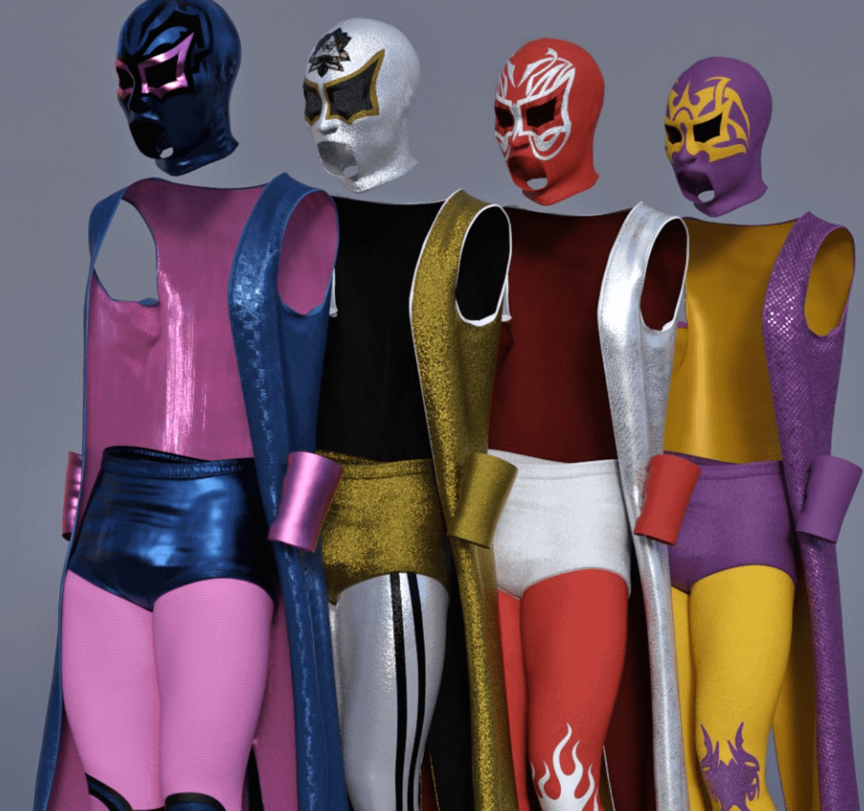 dforce luchador wrestling outfit textures