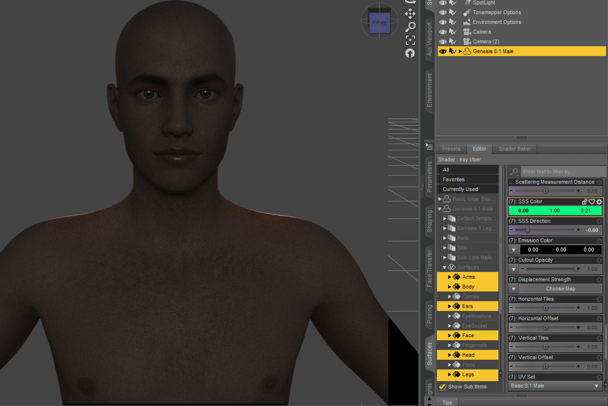 daz subsurface scattering chromatic