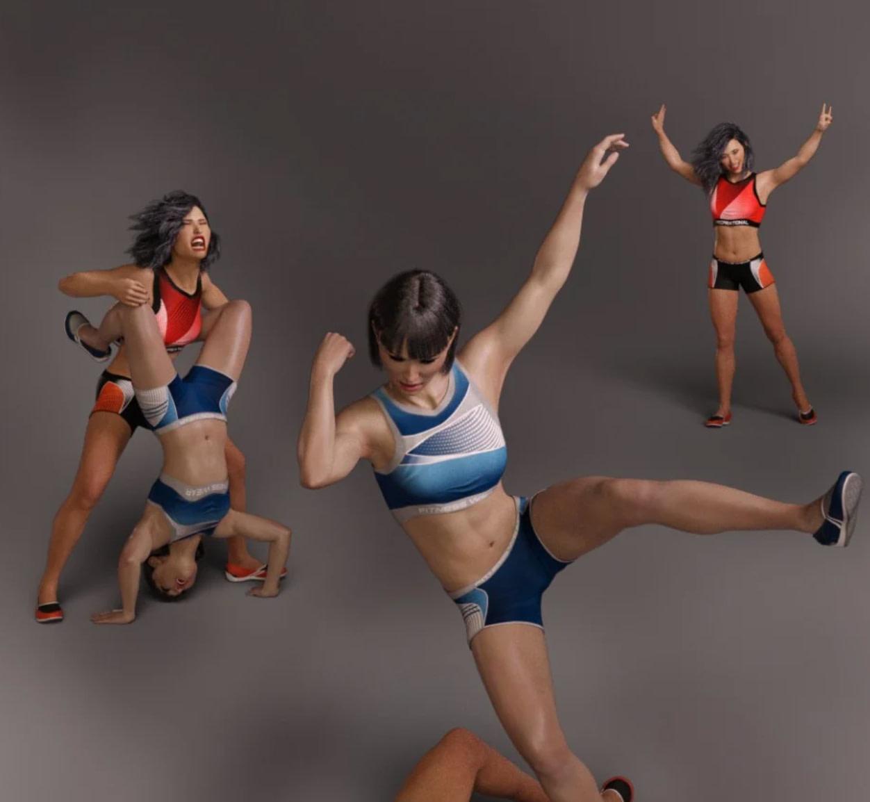 knockout daz poses