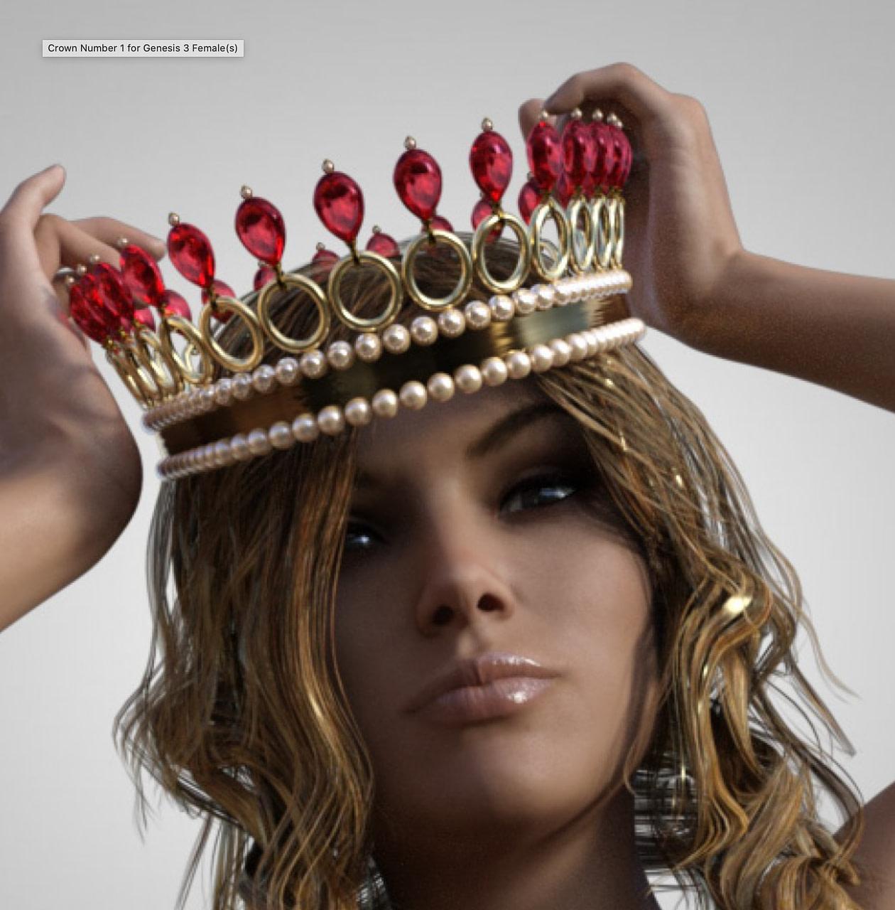 crown number 1 3d model