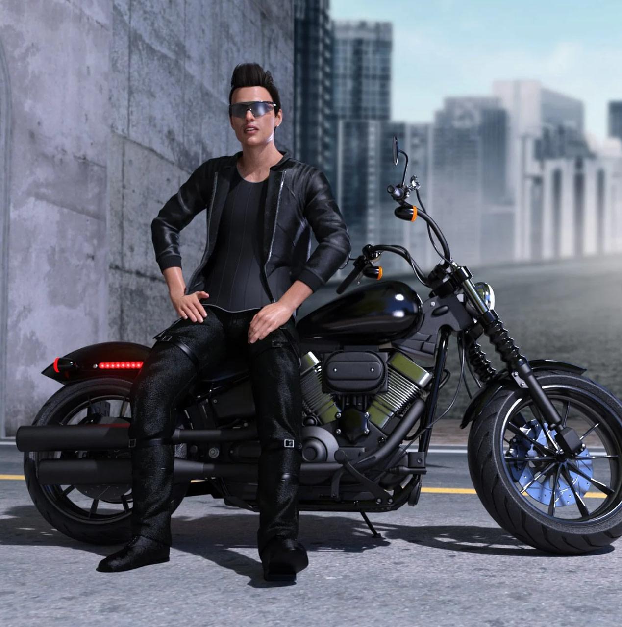 z low rider motorbike 3d model