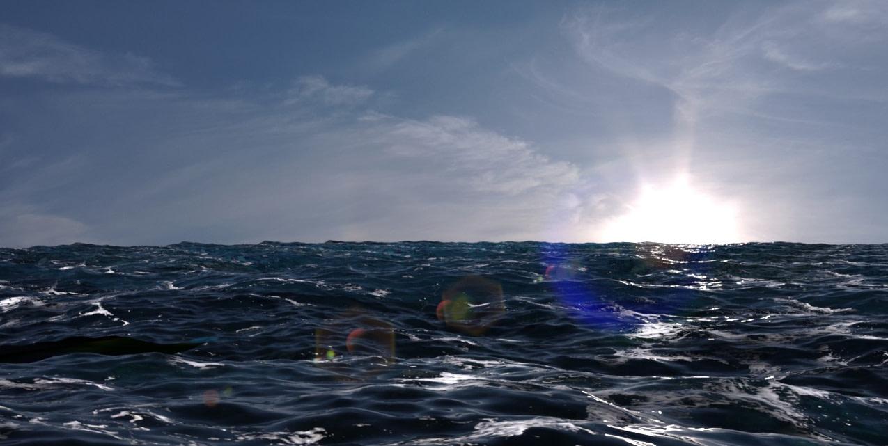 daz3d animated ocean water