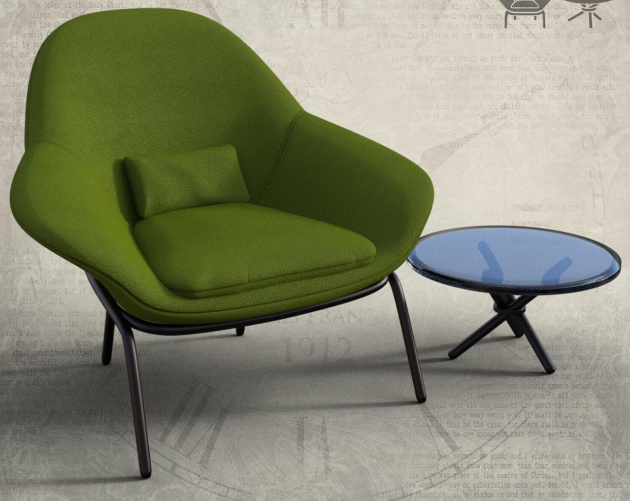 lounger chair 3d model