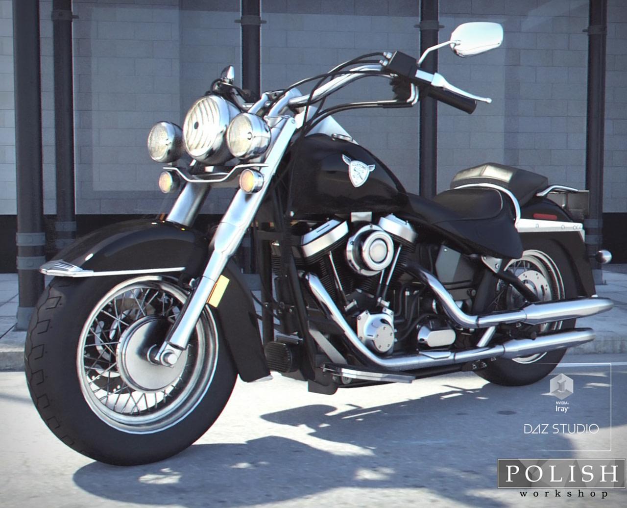 heavy motorcycle road cruiser 3d asset